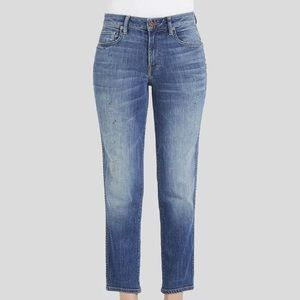 GENETIC DENIM HIGH WAIST STRAIGHT LEG CROP JEANS
